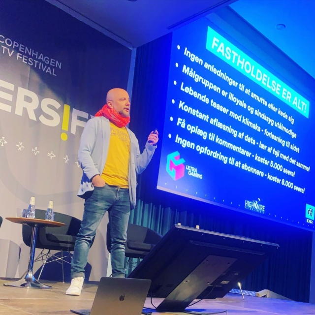 TV-branchens Martin Braithwaite flækker forsvaret på TV-festivalen 😜 #highwiredk #drultra